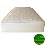 Naturepedic Organic 2 in 1 Quilted Twin Mattress - Waterproof