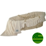 Wendy Anne Cozy Baby Ivory Velour Organic Moses Basket
