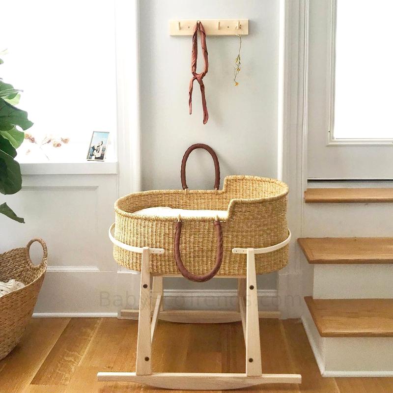 Design Dua Basket Rocking Stand Usa Made Moses Basket Stands Baby Eco Trends